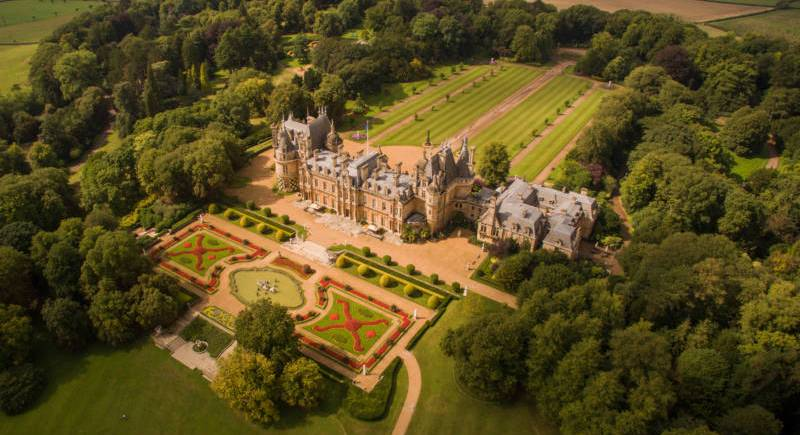 Aerial view of Waddesdon Manor