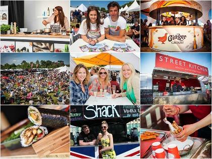 People enjoying foodies Festival in Oxford