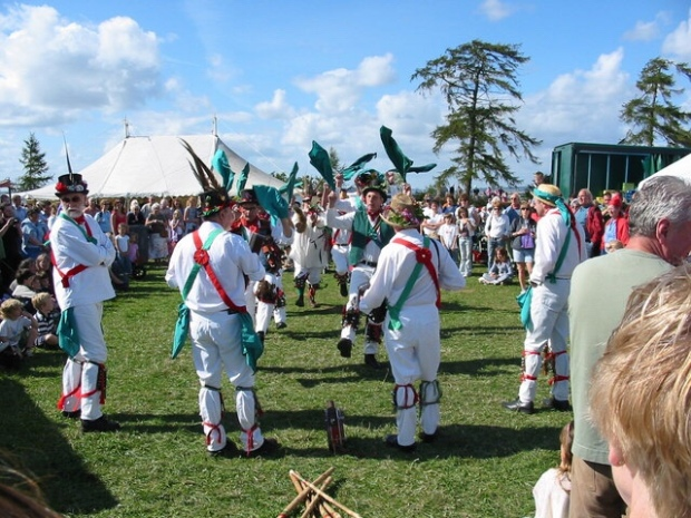 Morris men at the Wychwood Forest Fair Oxfordshire