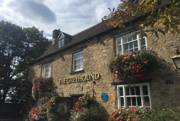The exterior of The Greyhound