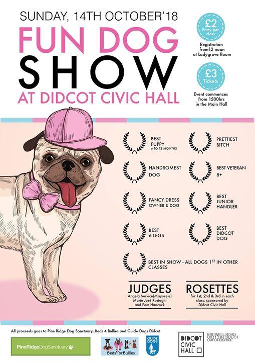 Didcot fun dog show poster