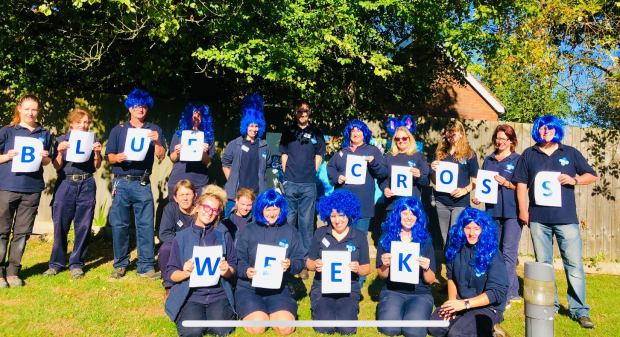 Blue Cross Staff on Blue Cross Week