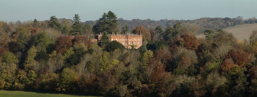 Hughenden surrounded by its grounds