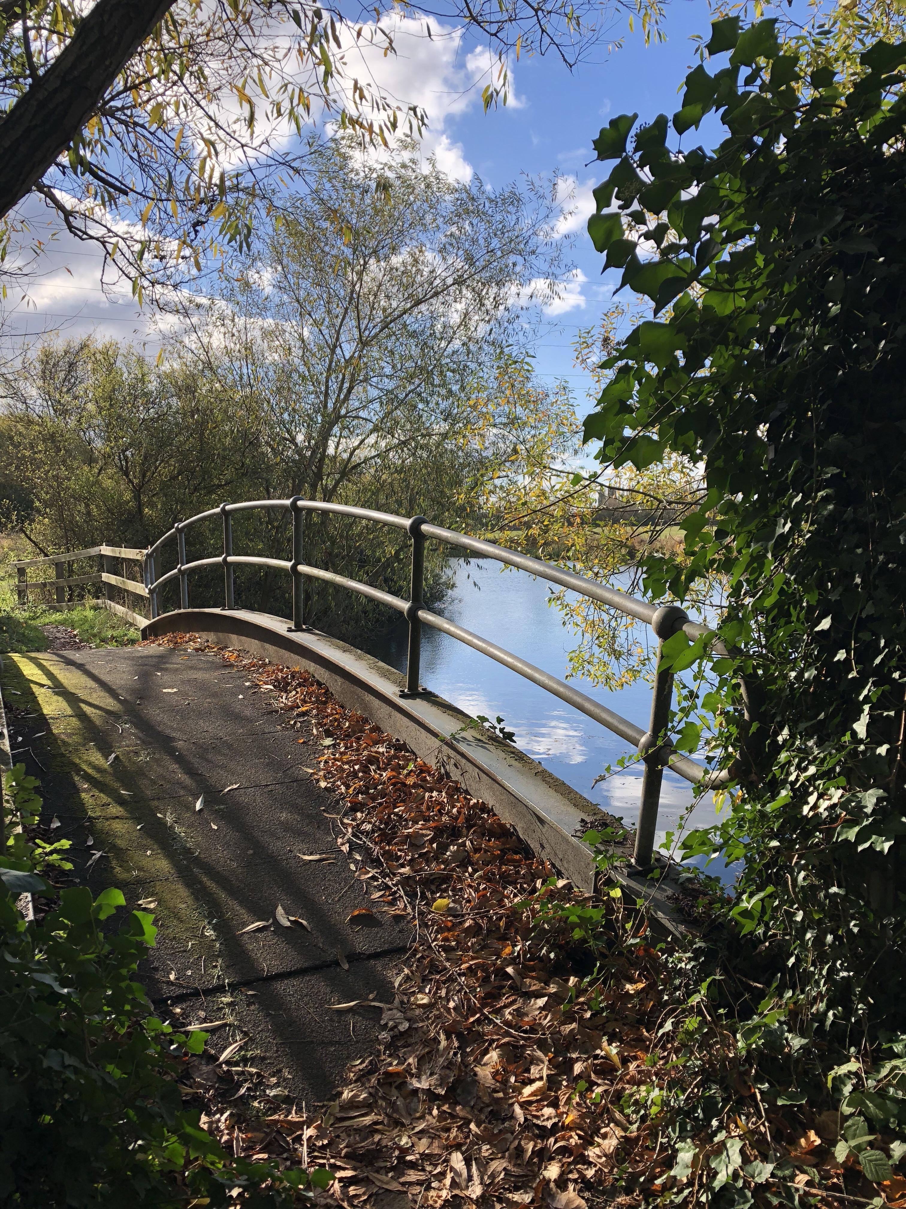 Bridge on the Thames footpath